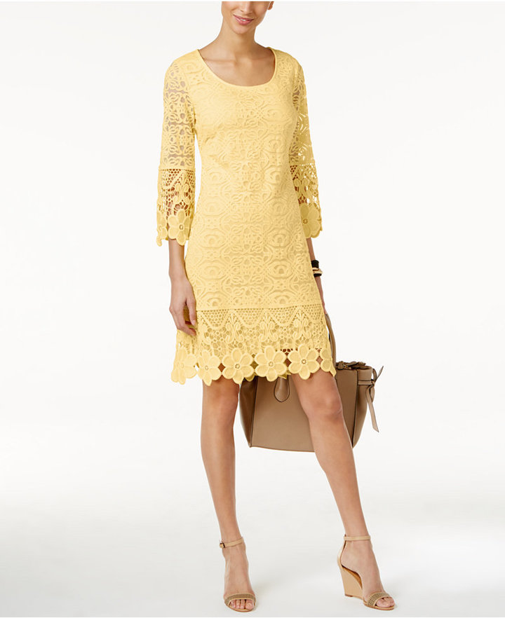 Alfani Crochet-Trim Illusion Dress, Only at Macy's 3