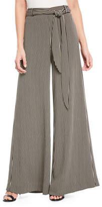 Halston Striped Wide-Leg Pants