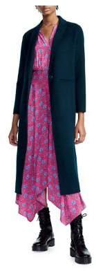 Maje Galaxy Long Wool-Blend Coat