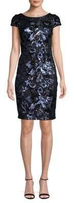 Calvin Klein Floral Sequined Sheath Dress