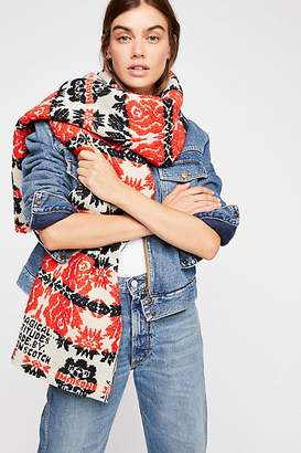 Scotch & Soda Out And About Floral Jacquard Scarf