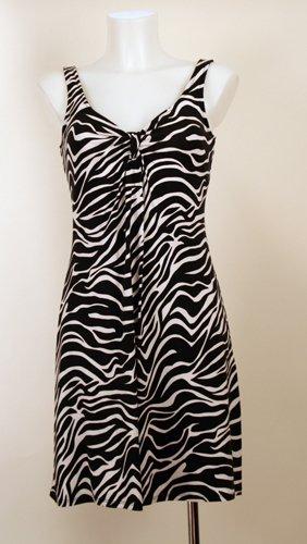 Three Dots Zebra Print Dress