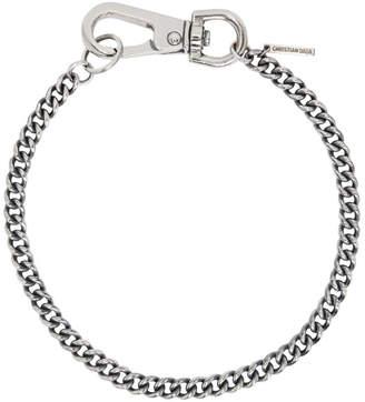 Christian Dada Silver Big Snap Hook Necklace