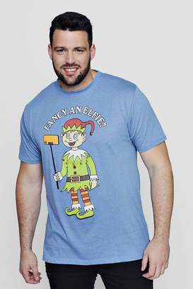 boohoo Big And Tall Fancy An Elfie T-Shirt
