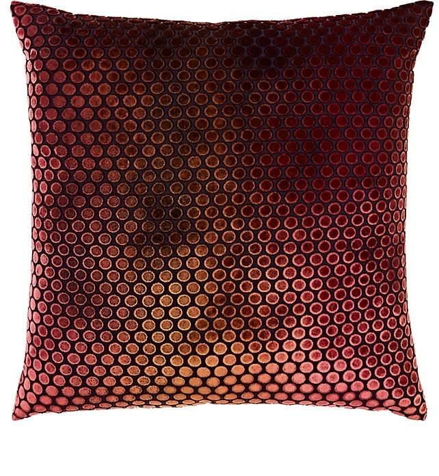 Kevin O'Brien Dotted Burnout Silk-Blend Velvet Pillow