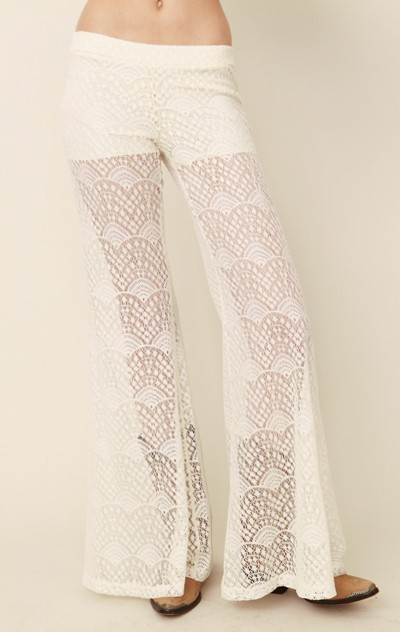 blu moon Lace Bell Bottom Pant