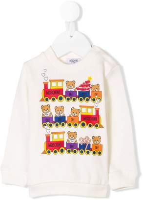 Moschino Kids teddybear printed sweatshirt