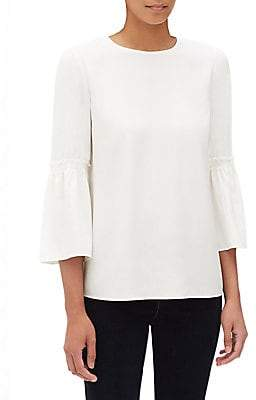 Lafayette 148 New York Lafayette 148 New York, Plus Size Lafayette 148 New York, Plus Size Women's Roslin Silk Bell-Sleeve Blouse