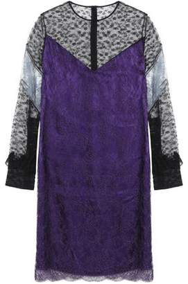 Cheap Sale For Sale From China Cheap Price Nina Ricci Woman Layered Chantilly Lace And Satin Dress Violet Size 38 Nina Ricci IagwVbG
