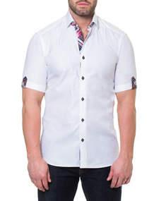 Men's Shaped-Fit Fresh Block Short-Sleeve Sport Shirt