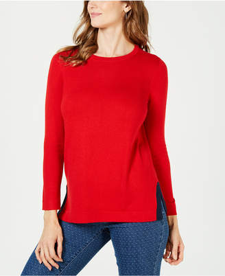 Charter Club Crew-Neck Long-Sleeve Sweater