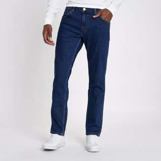Wrangler Mid blue Greensboro straight jeans