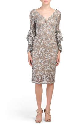 Deep V Back Lace Dress