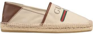 Gucci logo canvas espadrille
