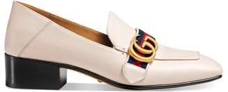 Leather Double G loafer $795 thestylecure.com