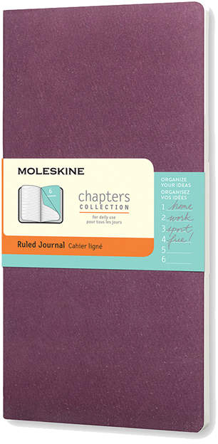 Purple Chapter Ruled Notebook