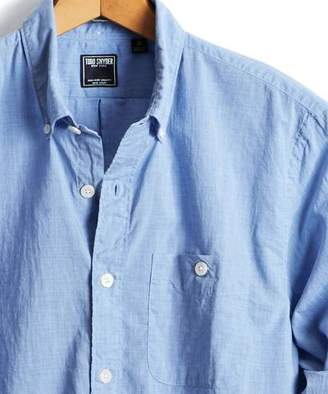 Todd Snyder Slim Fit Melange Button Down Shirt in Blue