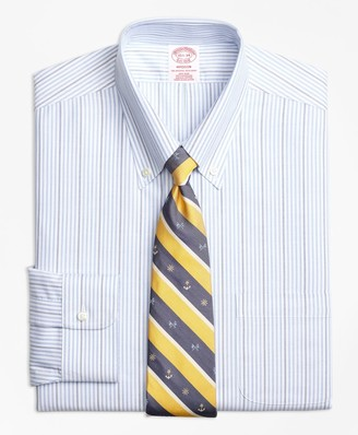 Brooks Brothers BrooksCool Madison Classic-Fit Dress Shirt, Non-Iron Candy Stripe