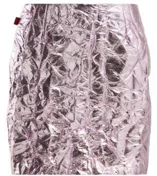 Sies Marjan Desiree Crinkled Metallic Mini Skirt - Womens - Pink