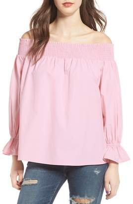 Soprano Bow Off-the-Shoulder Top
