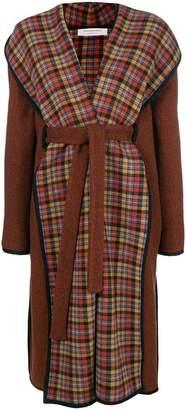 Philosophy di Lorenzo Serafini belted plaid coat