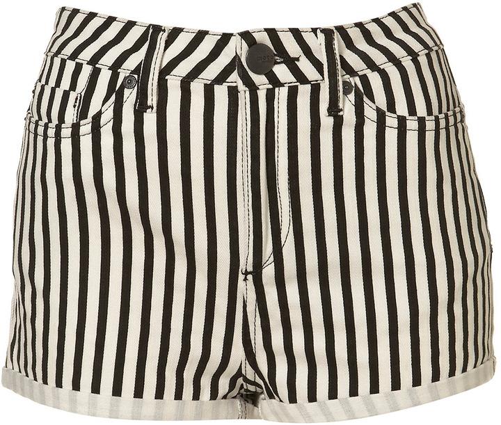 Petite Striped Hotpants