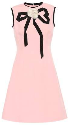 Gucci Wool and silk crêpe dress