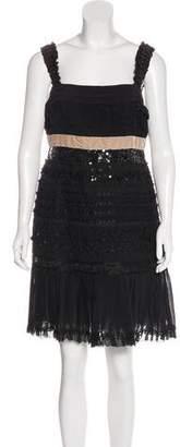 Louis Vuitton Embellished Knee-Length Dress