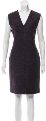 Calvin Klein Collection Tweed Knee-Length Dress Violet Tweed Knee-Length Dress
