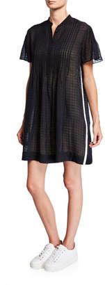Rag & Bone Marcela Flutter-Sleeve Shirt Dress
