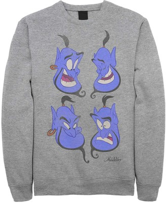 Licensed Character Juniors' Disney's Aladdin Genie Expressions Classic Fleece Sweater