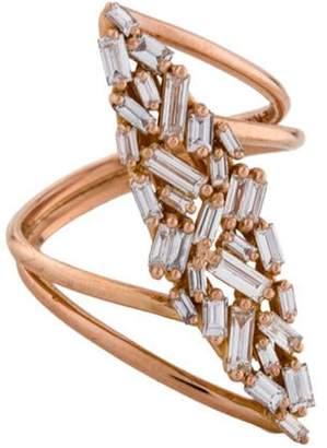 Suzanne Kalan 18K Diamond Fireworks Marquis Ring rose 18K Diamond Fireworks Marquis Ring