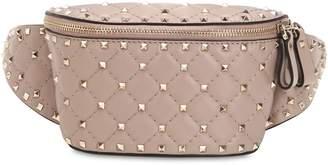 Valentino Spike Embellished Leather Belt Bag