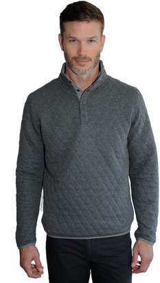 Mountain And Isles Men's Mountain and Isles Regular-Fit Quilted Snap Pullover