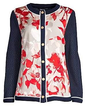 Misook Women's Placed Pattern Cardigan