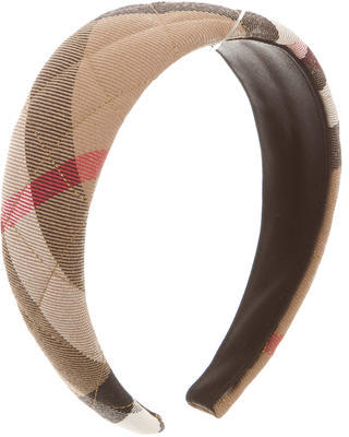 Burberry  Burberry Quited House Check Headband