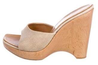 Casadei Wedge Slide Sandals