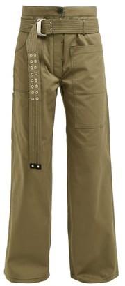 La Fetiche - David Wide Leg Utility Cotton Trousers - Womens - Khaki