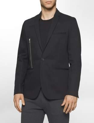 Calvin Klein one slim fit side zip jacket