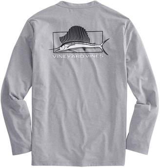 Vineyard Vines Long-Sleeve Heathered Performance Sailfish T-Shirt