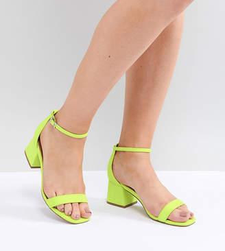 Asos DESIGN Honeydew Wide Fit Heeled Sandals