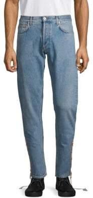Heron Preston Textured Strap Skinny Jeans