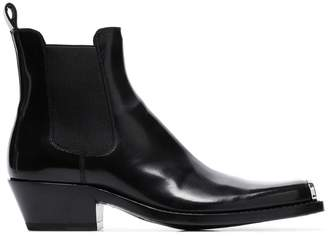 Calvin Klein Chris metal toe cap leather western boots