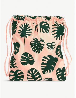 NONE Monstera patterned drawstring backpack