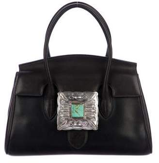 Ralph Lauren Embellished Leather Handle Bag