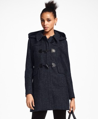 Brooks Brothers Herringbone Wool-Cashmere Duffle Coat