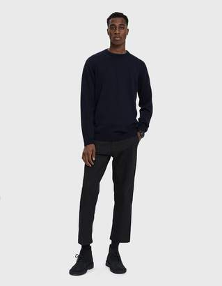 Norse Projects Sigfred Merino Crewneck Sweater in Dark Navy