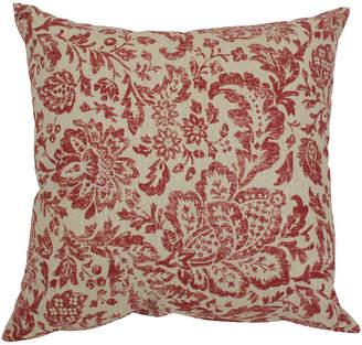"Fairhaven Red 18"" Throw Pillow"