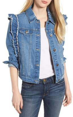 Bagatelle Ruffle Denim Jacket