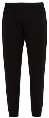 Prada Wool Track Pants - Mens - Black